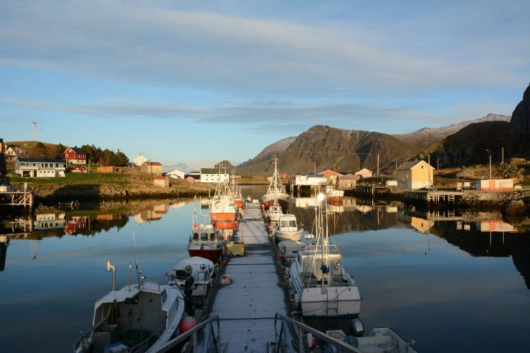 Nykvåg is one of the fishing villages just around the coast from Ringstad. More experienced kayakers can take a day trip here © Knut Hansvold