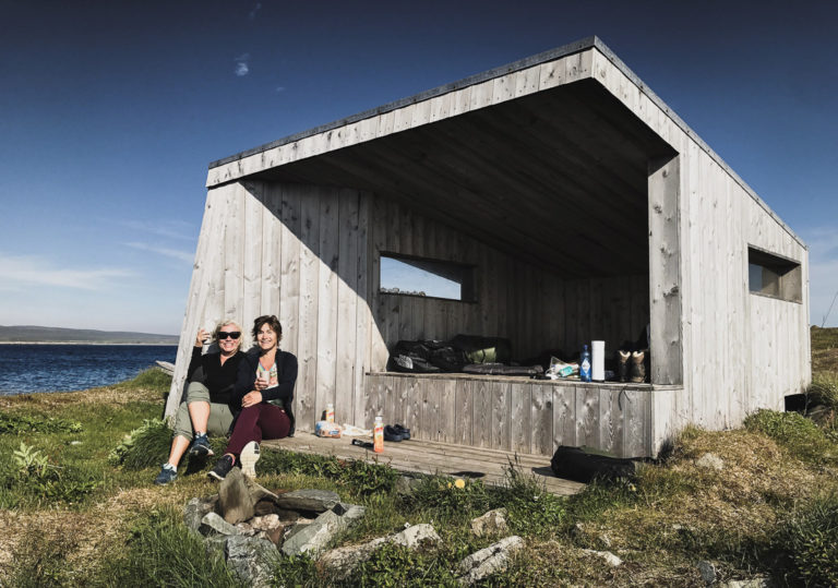 Feel free to have your coffee inside one of these bird shelters, as long as you don't disturb the birds or the birdwatchers © Tormod Amundsen/Biotope
