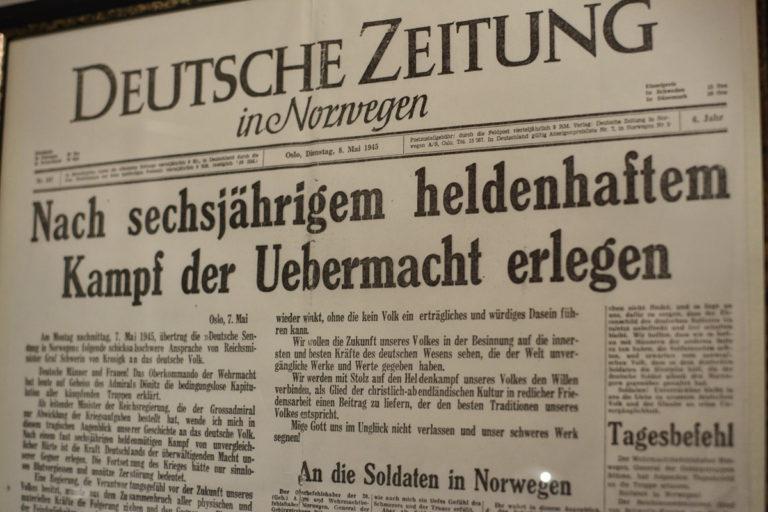 Hitlers død meddeles i tysk nazi-avis i Norge ©