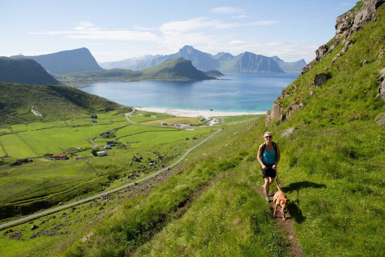 Turen til Himmeltinden har en tydelig sti © Kristin Folsland Olsen