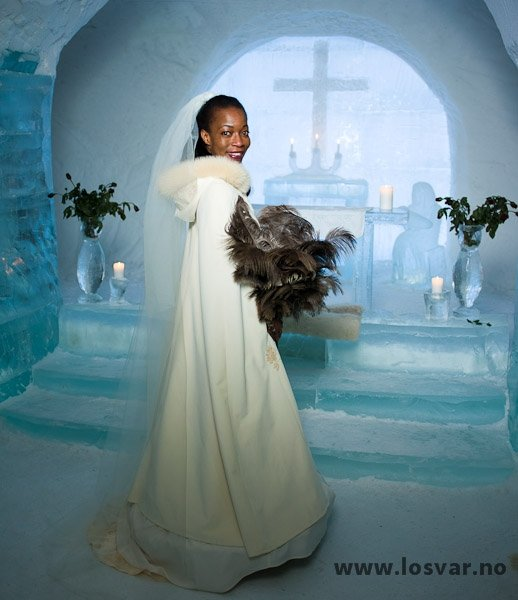 Here comes the bride! The chapel at the igloo hotel is consecrated for ceremonies © Sorrisniva