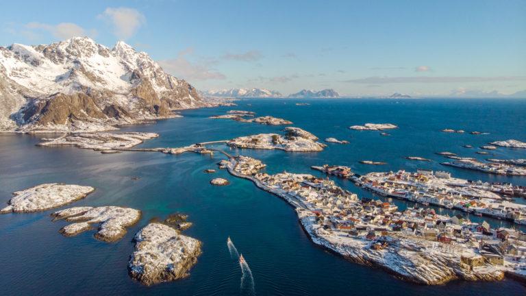 Henninsvær from the air © Ismaele Tortella