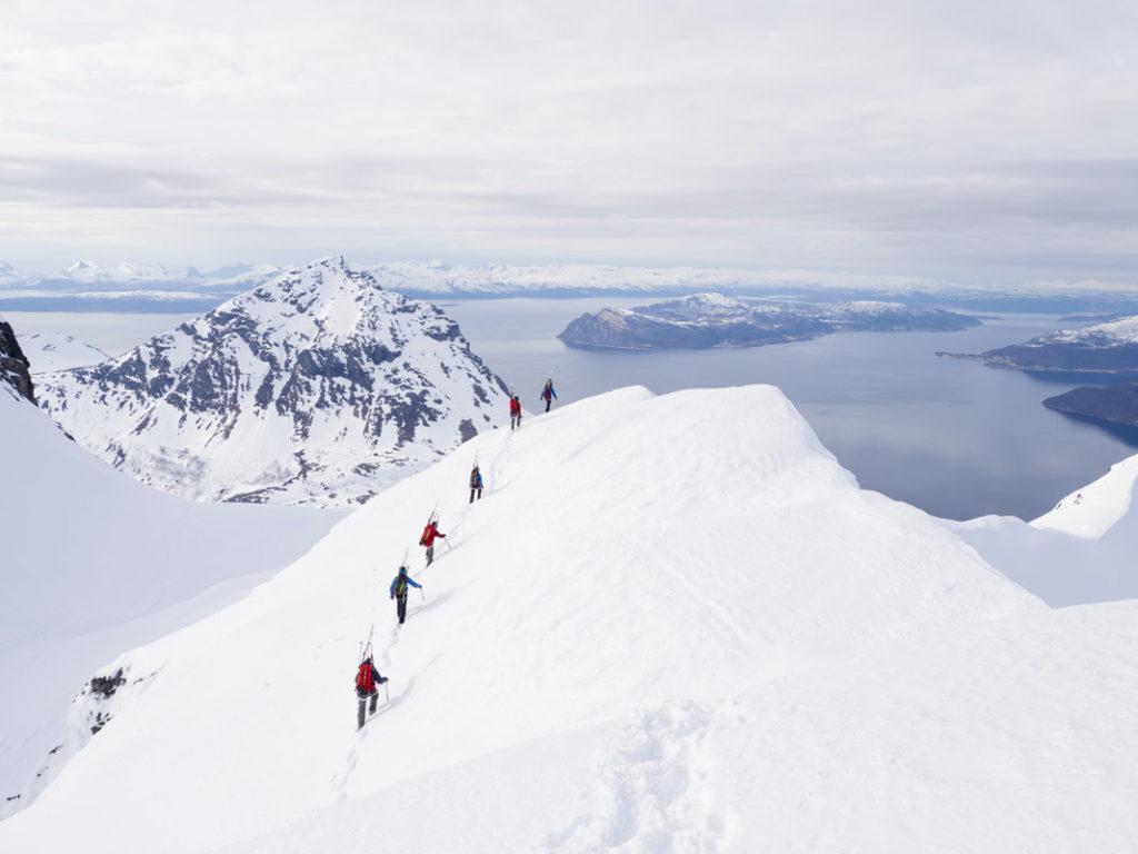 Folk på Topptur i Narvik og Harstad regionen