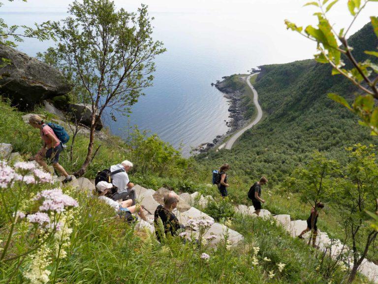 Stien til Reinebringen er steinlagt mesteparten av veien opp for sikkerheten og naturen sin skyld © Kristin Folsland Olsen
