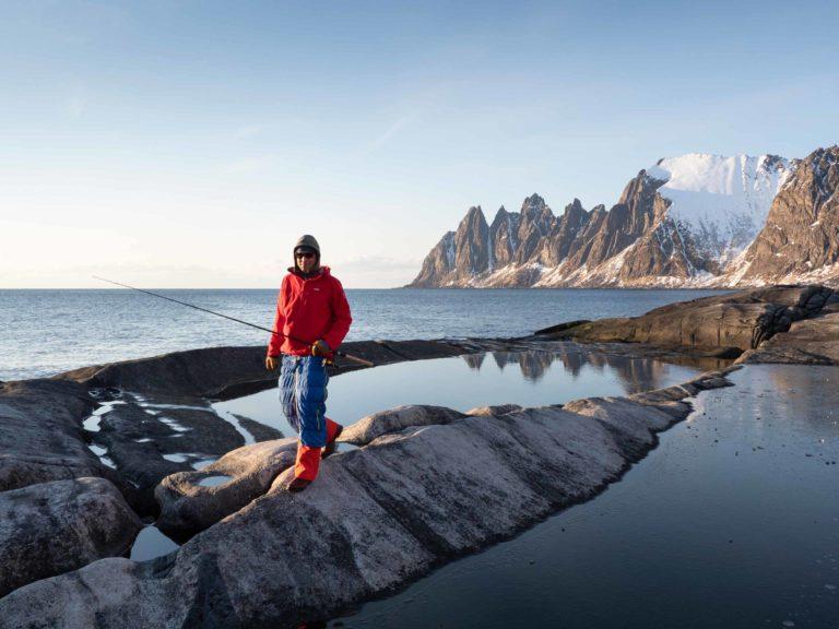 Man har nok fiska litt lenger enn man har kjørt ski på Senja © Kristin F. Olsen