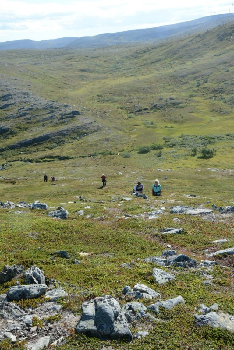 The terrain is never too steep meaning those in with average fitness can take the hike © Knut Hansvold