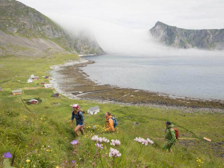 Turen til Måhornet starter på havnivå © Kristin Folsland Olsen