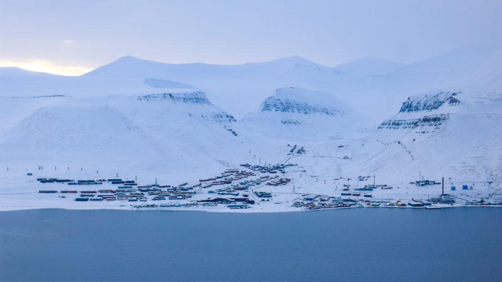 Longyearbyen from Adventdalen