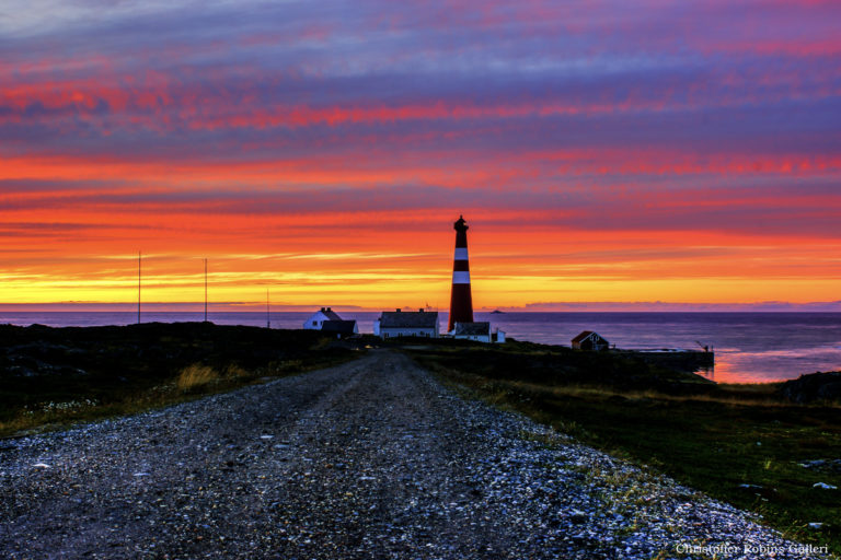 An evening stroll can give you a spectacular sunset view of the Slettnes lighthouse that marks the end of the trail © Knut Hansvold