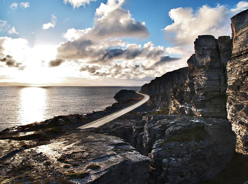 Norwegian scenic route Havøysund