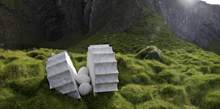 Il nido - the nest - the Røst contribution to the Artscape Nordland project Enst Furuhatt