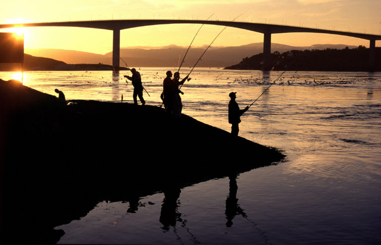 Salt water Fishing is allowed at all times, even under the midnight sun, however lakes and salmon river fishing may require a licence © Ernst Furuhatt