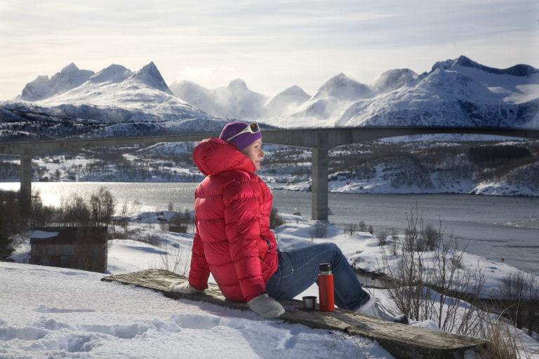 Saltstraumen er også veldig flott om vinteren. Fjellområdet bak er lekegrinden til alle friluftsentusiastene i Bodø © Rune Nilsen