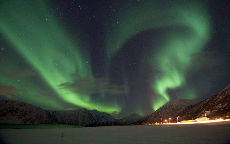 Nydelige nordlysbuer © Marten Bril