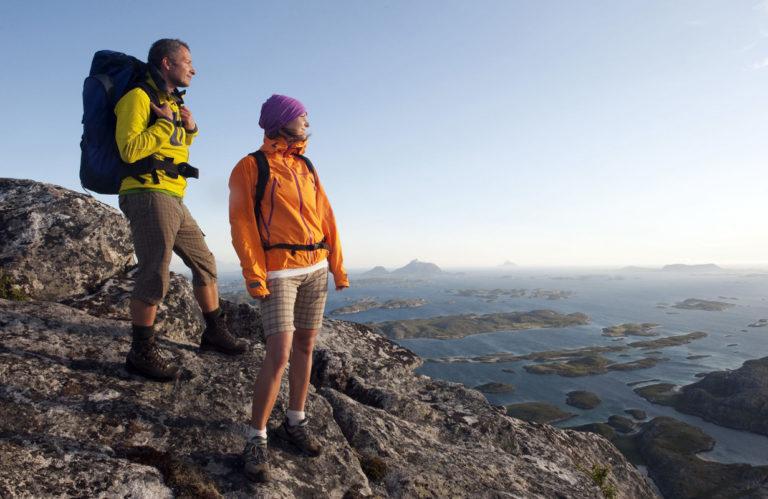 Utsikt fra den øverste delen av Rødøyløva © Terje Rakke