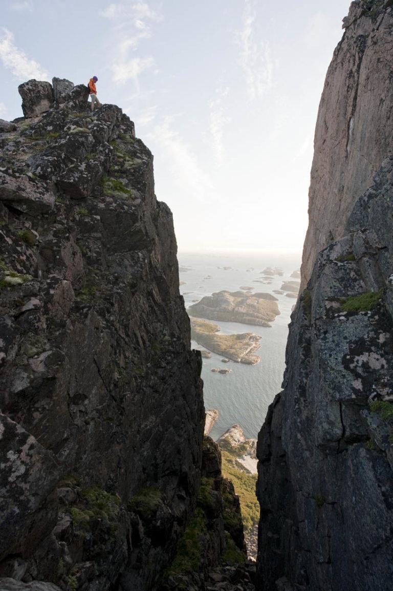 Denne formasjonen ser du når du er nesten på toppen av Rødøyløva © Terje Rakke
