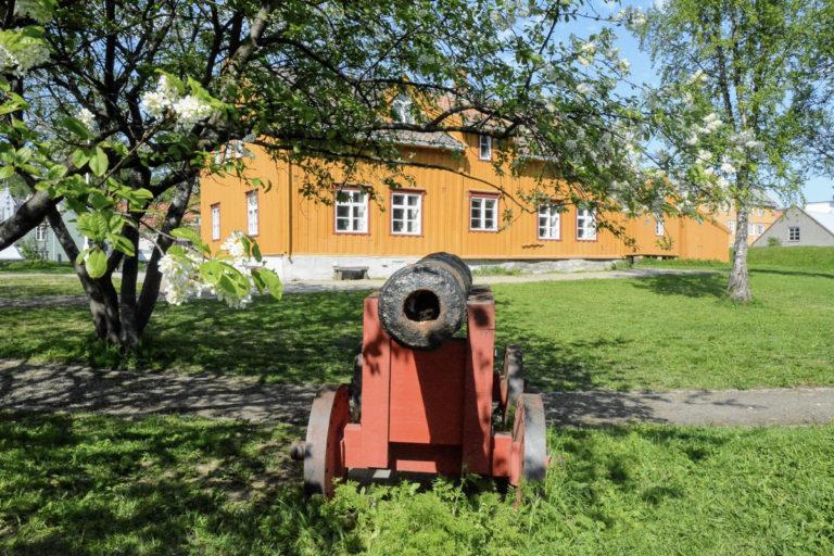 I 1812 ble disse kanonene brukt til forsvare byen mot britisk angrep © Knut Hansvold