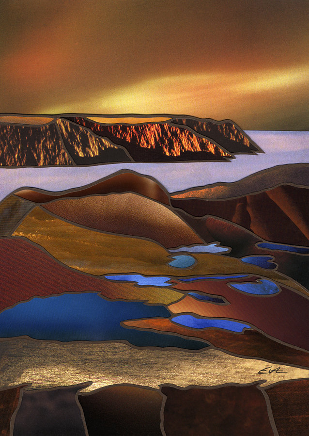 Vatn og bratte kyster på Magerøya © Eva Schmutterer/Galleri østenfor solen