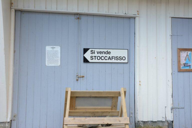 """""""Si vende stoccafisso"""": Det er en nær forbindelse mellom Lofoten og Italia  © Knut Hansvold"""