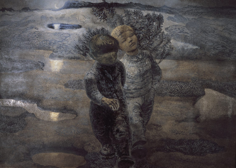 Two boys wandering © Kaare-Espolin-Johnson