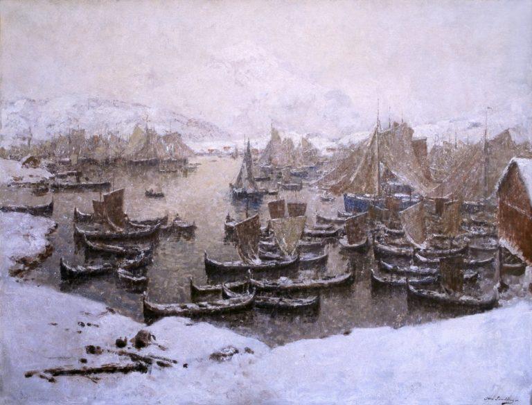 Old style fishing boats were perfect for elegant artwork © Galleri Lofotens Hus