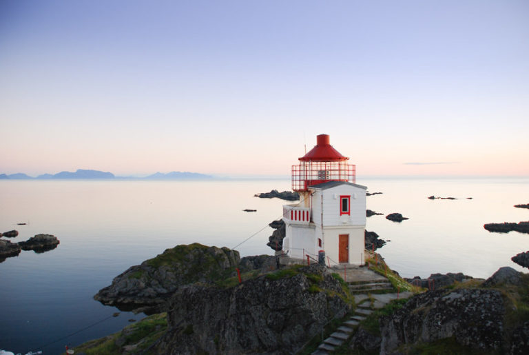 The lighthouse is Tardis like, small on the outside but full of all you need on the inside © Litløy Fyr