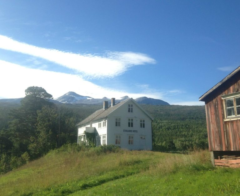 Situated in a meadow and surrounded by forest there is no place you'd rather be in the Northern Norwegian Summer © Storjord Hotel