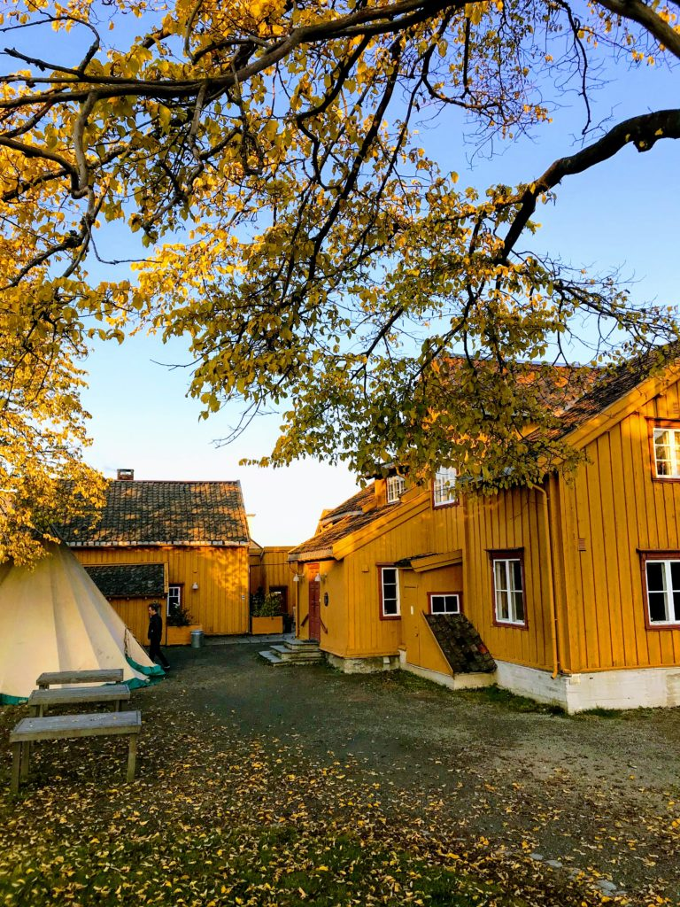 Skansen is the oldest building in Tromsø, from around 1790. The photographer headed into the shed, though, because they serve good cakes there © Knut Hansvold