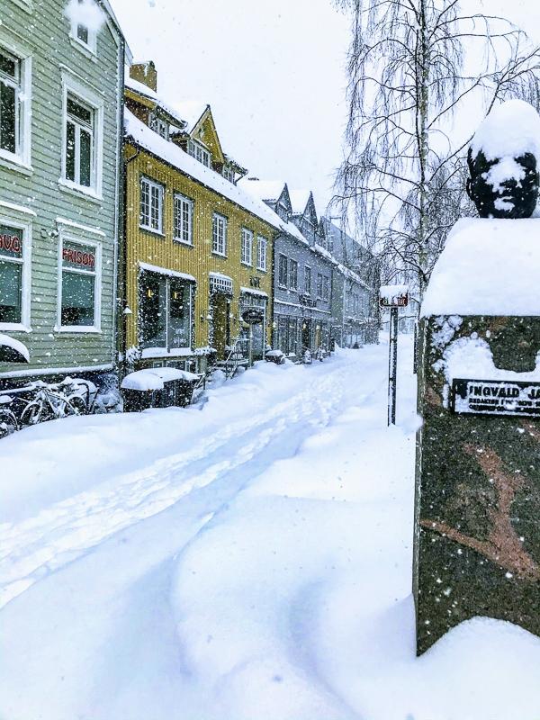 Husk gode sko om vinteren, av og til må du grynne (=vasse) i snøen © Knut Hansvold