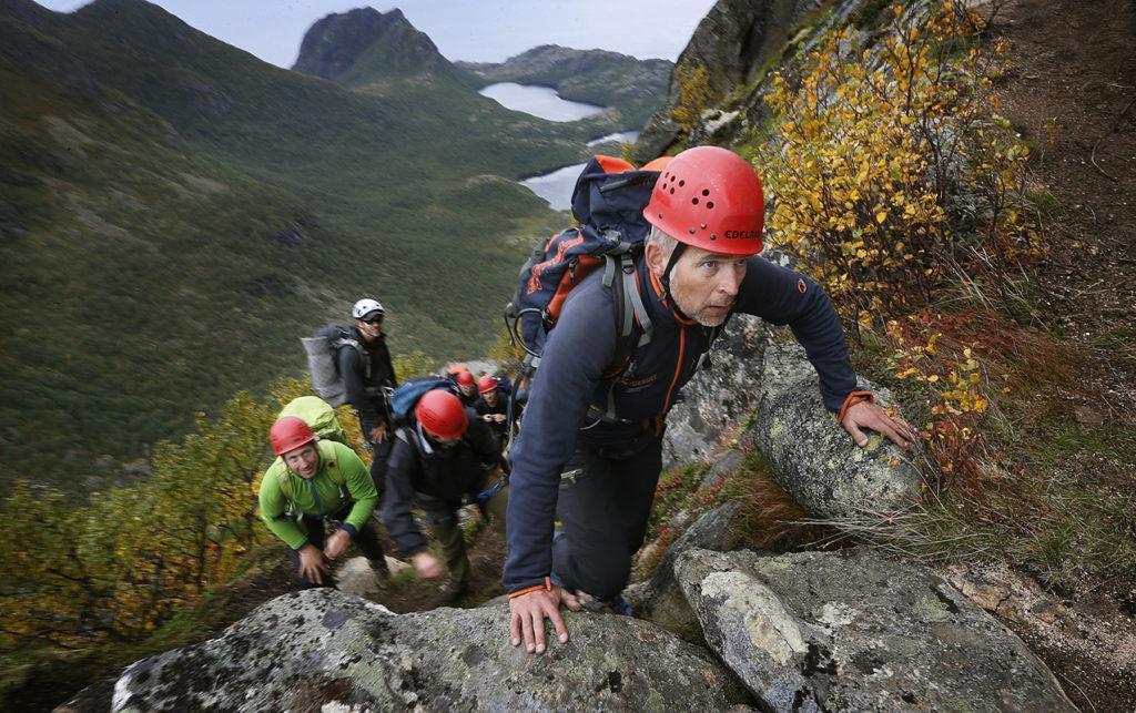 Klatring på hamarøyskaftet guidet tur