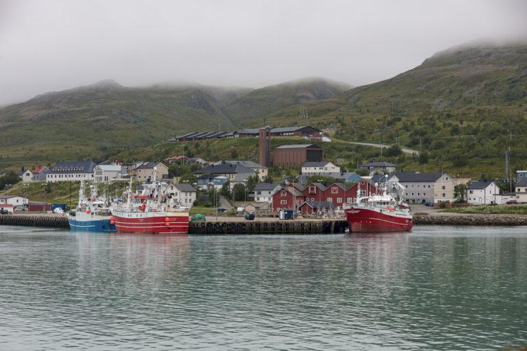 Båtsfjord er et travelt fiskevær © FotoKnoff