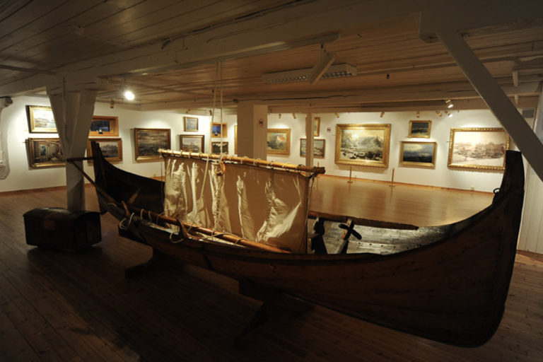 The gallery includes artefacts from Lofoten © Knut Hansvold