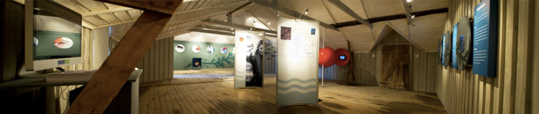 There is a large exhibit room with diagrams, maps and information on fish farming and more in Northern Norway © Alvin Jensvold/Akvakultur i Vesterålen