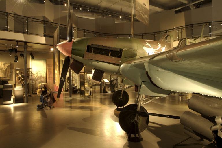 Inne på Grenselandmuseet, flyet er sovjetisk og nødlandet på et frossent vann © Trym Ivar Bergsmo