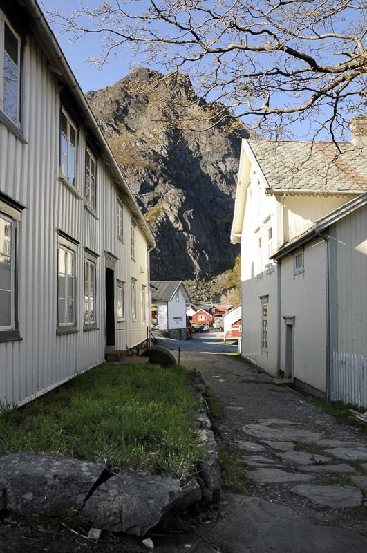 The old houses at the trading post © Steinar Skaar/Statens vegvesen