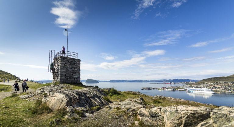 Summer view over Hammerfest seen from the city mountain of Salen © Ziggi Wantuch