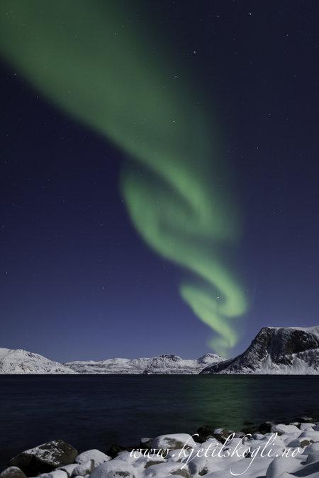 Nordlys i kystlandskap © Kjetil Skogli