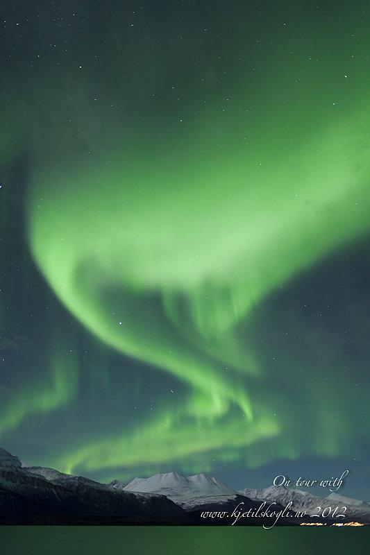 Ofte finner Kjetil nordlys i de indre fjordstrøkene øst for Tromsø © Kjetil Skogli