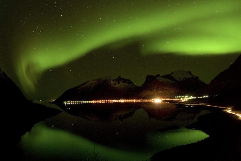 Nordlys over Bergsfjorden © Reiner Schaufler