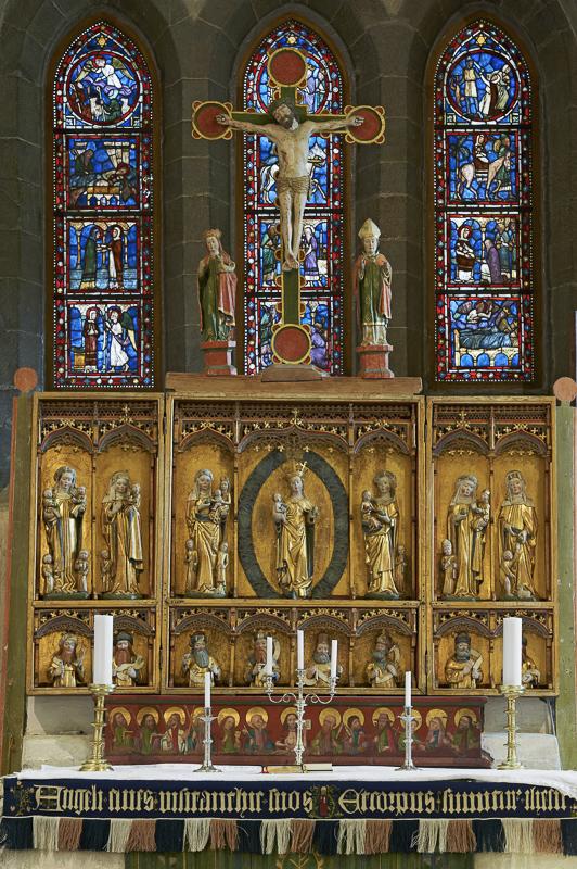 Alterskapet i midten er kanskje laget av den tyske kunstneren Bernt Notke på slutten av 1400-tallet © Bård Løken