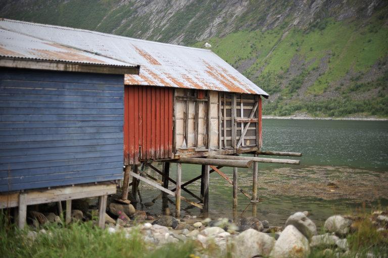 Naust i Gryllefjord © Jarle Wæhler/Statens vegvesen