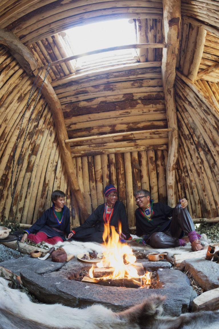 """Inside a Sami """"kåte"""" - dwelling © Magnus Strøm"""