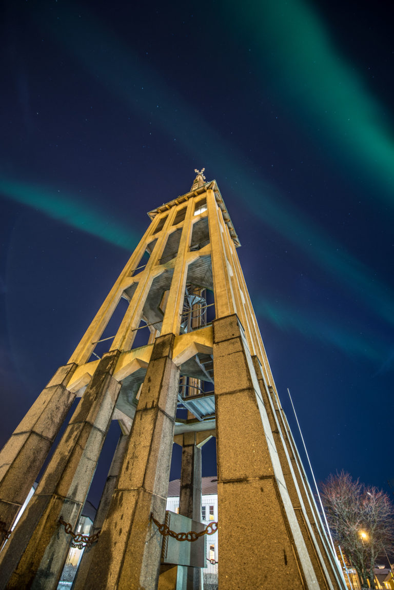 The free-standing bell tower of the cathedral © Kent Even Grundstad