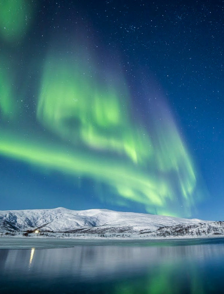 Figure 4c - Spring 2019 auroras lighting up a moonlit landscape © William Copeland