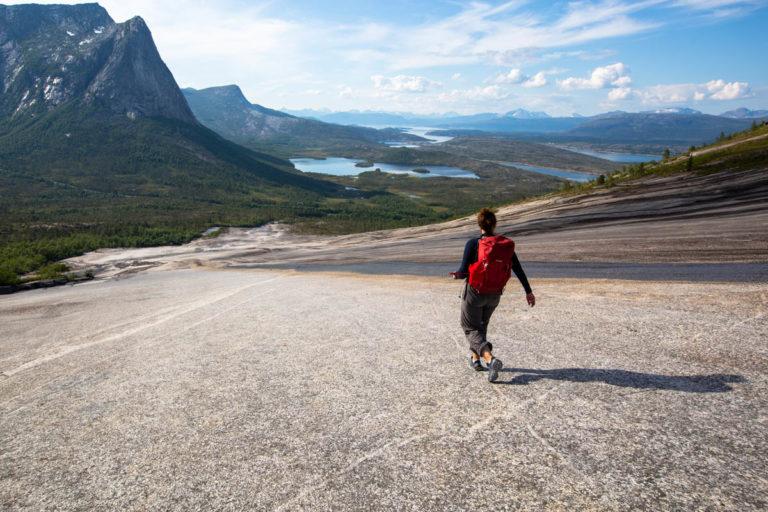 På vei ned fra Verdenssvaet © Mats Hoel Johannessen