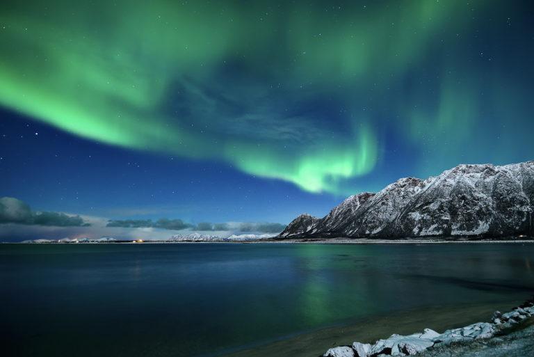 Fra Grundfør på Austvågøya, langt sør og vest i Vesterålen © Marius Birkeland