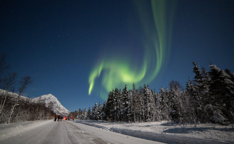 The road past Lake Laksvatnet, taken on New Years Eve a couple of years ago © William Copeland