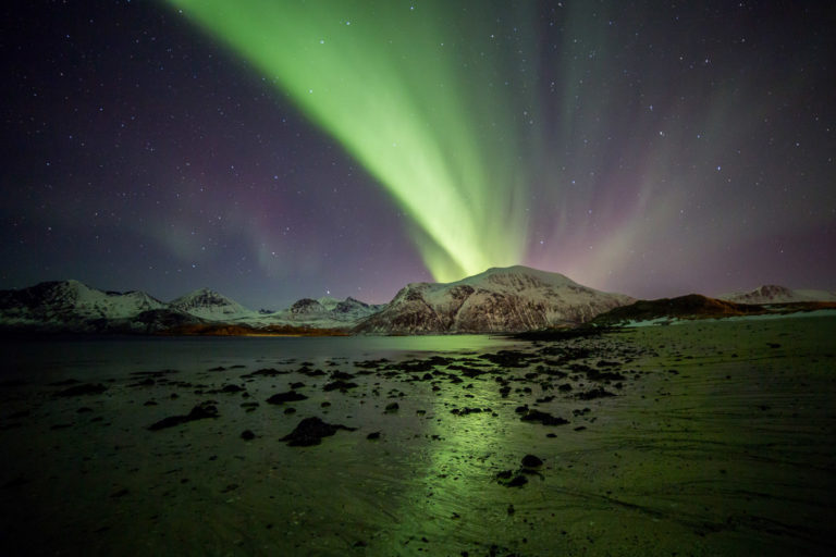 From the mouth of the Kattfjord at Kvaløya Island © William Copeland
