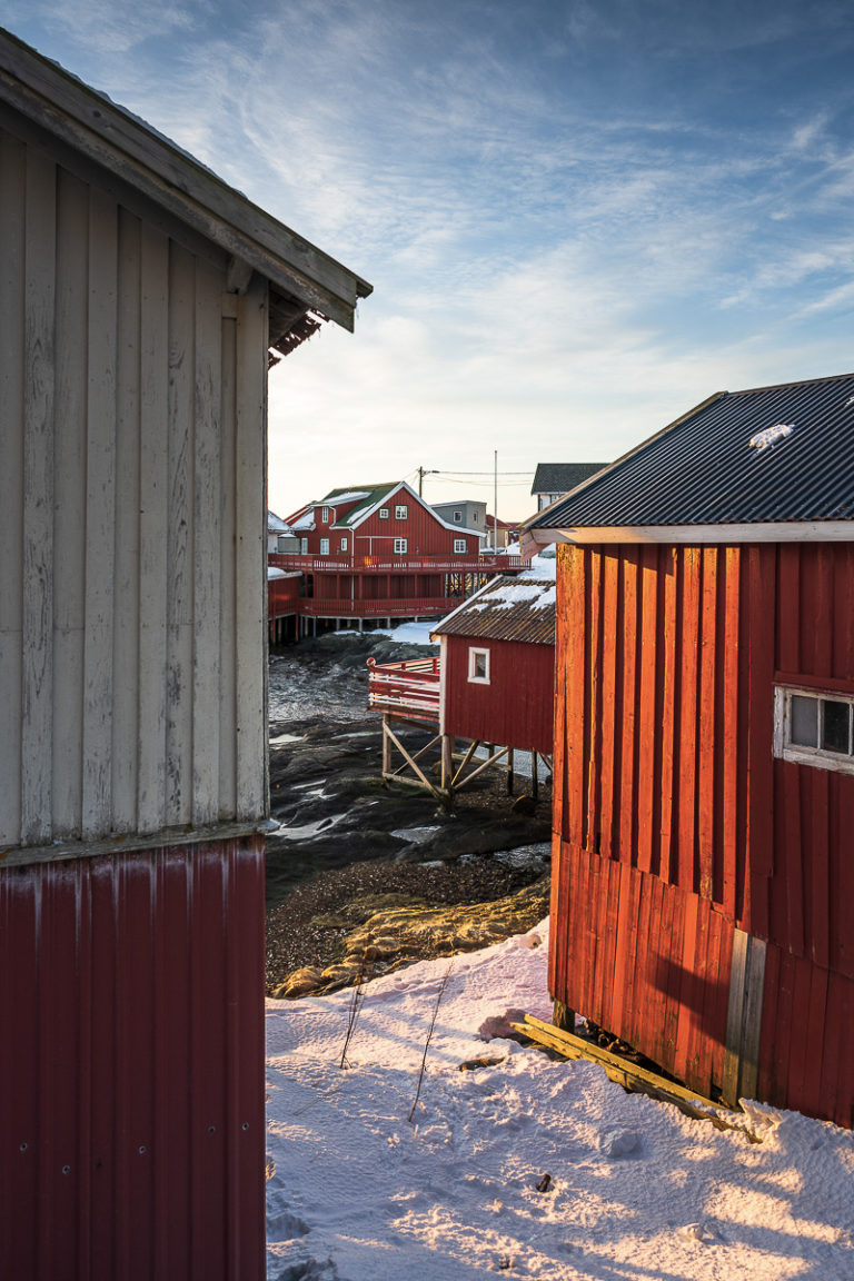 New and old architecture at Træna in lovely colours © Arvids Baranovs