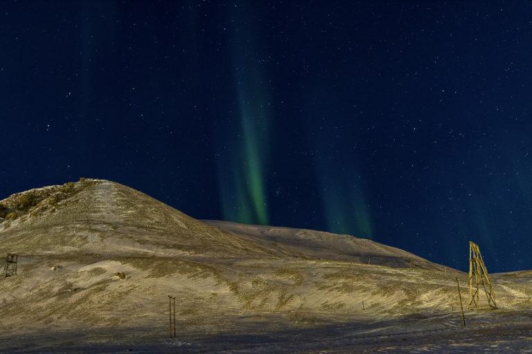 Nordlyset kommer inn fra sør © Jarle Røssland